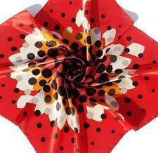 "SPECIAL!   New 14"" 100% Silk Pocket Square Red Orange White Black Sunburst"