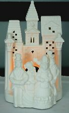 Partylite Christmas Village Caroler'S Candle Holder Tea Light Porcelain Winter