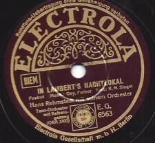 Rudi Dreyer  + Orchester Hans Rehmstedt 1938 : In Lamberts Nachtlokal