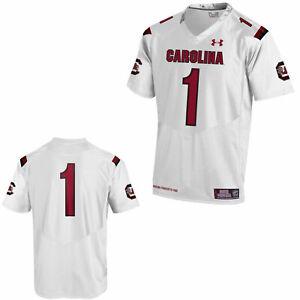 South Carolina Gamecocks Under Armour White #1 Sideline Replica Football Jersey