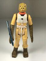 Star Wars Vintage Figure Bossk Bounty Hunter Complete w/Rifle 1980 LFL HK EX