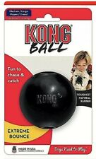 KONG EXTREME MEDIUM/LARGE BLACK BALL RUBBER CHEWY FREE SHIPPING