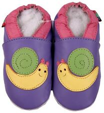 shoeszoo snail purple 2-3y S soft sole leather toddler shoes