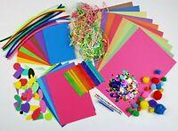 Kids Arts & Craft Box ~ Children's Craft Material Sets  ~ Foam Card Pom Glitter