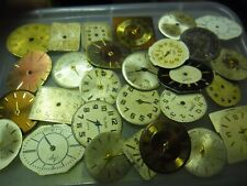 old vintage watch dials steampunk art or spare craft etc lot h