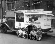 Photograph of a Good Humor Man & His Truck in New York Year 1925c  11x14