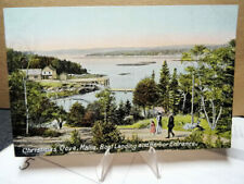 1909 Postcard Christmas Cove Maine Boat Landing & Harbor Entrance