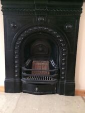 CAST IRON GENUINE VICTORIAN FEATURE FIREPLACE
