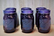 BALL Mason Jars Vintage American Heritage Pint Purple 16 Ounce Set of 6