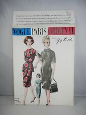 Guy Laroche VOGUE PARIS ORIGINAL PATTERN 1374 One Piece Dress Size 10 w Label