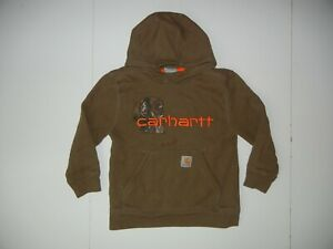 CARHARTT Brown RealTree Camo HUNTING HOODIE Cotton Work Sweatshirt Kid YOUTH S