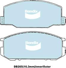 Brake Disc Pad Set  Bendix DB265 GCT For LOTUS Esprit Excel TOYOTA Celica