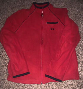 Boys Under Armor Fleece Jacket Size 8/GUC