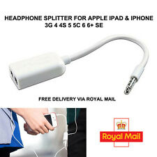 Jack Dual Headphone Audio Adapter Splitter For Apple iPad 2 3 4 5 Air iPhone UK