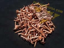 """1"""" Annular Ring Shank Copper Roofing Nails 11 gauge 3/4lb (approx. 170 pcs)"""