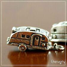 Caravan charms ~PACK of 2~ Tibetan silver camping trailer park holiday vacation