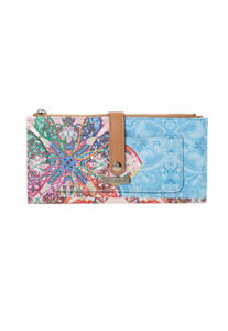 Desigual Mexican Patterned Faux Leather Wallet, Multi, One Size