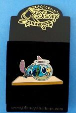 Disney AUCTION PIN STITCH AND FISHBOWL RARE HTF LE
