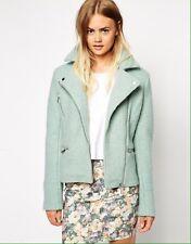 ASOS Biker Jacket Textured Wool Spring Fleece  - Mint - size 6