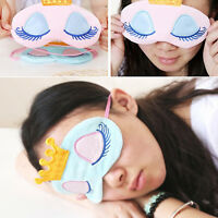 GN- Earnest Cute Eyes Cover Crown Style Travel Sleeping Blindfold Shade Eye Mask