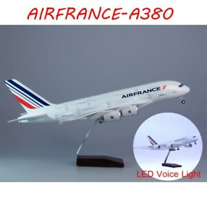 1/160 AIRFRANCE A380 Airplane Airline LED Voice Light Resin Aircraft Plane Toy