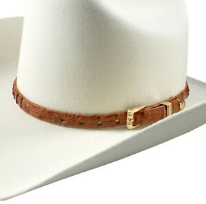 Western Cowboy Hat Band Crocodile Leather Multiple Colors Toquillas para texanas