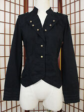 Sanctuary Surplus Military Styled Jacket Womens Large Black Casual Spring Style