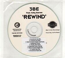 (GT800) 3BE Feat Kelly Barnes, Rewind - DJ CD