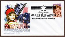 SHIRLEY TEMPLE ~ LEGEND OF HOLLYWOOD STAMP ~ GRAEBNER CACHET ~ FIRST DAY COVER