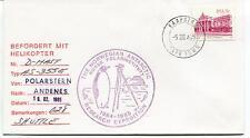 1985 Befordert Mit Helikopter Polarstern Norwegian Polar Antarctic Cover SIGNED