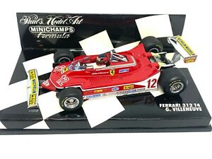 1:43 scale Minichamps Ferrari 312 T4 Formula 1 Car - Giles Villeneuve 1979 Model