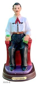 "Jesus Malverde 8"" Inch Statue Sitting Sinaloa Sinaloense Saint"