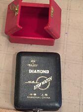 Antiguedad caja para relojes Diamond Stop Watch Shanghai China