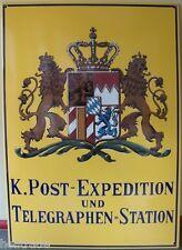 EMAIL SCHILD - K. POST-EXPEDITION UND TELEGRAPHEN=STATION * EMAILLESCHILD *