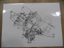 Zeichnung Motor VOLKSWAGEN Fünf-Zylinder-Dieselmotor 02/91 SR917