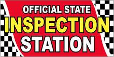 Official State Inspection Station Vinyl Banner Sign 2x4 ft - rb