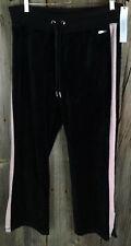 Calvin Klein Performance Womens Velour Colorblock Track Pants blk/pink XL 77A6