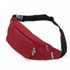 New Red Waist Fanny Pack Belt Bag Pouch Travel Sport Hip Purse Men Women Bum
