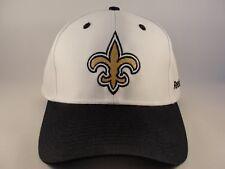 84250ebe8f1 New Orleans Saints NFL Reebok Adjustable Strap Hat Cap White Black