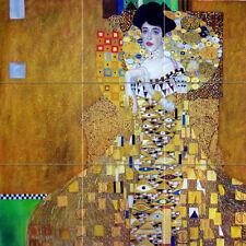 Art Gustav Klimt Adele Bloch-Bauer Ceramic Mural Backsplash Bath Tile #2740