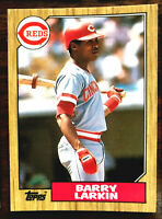 1987 Topps Tiffany #648 BARRY LARKIN (RC) ~ HOF HALL OF FAME  INDUCTEE REDS SS