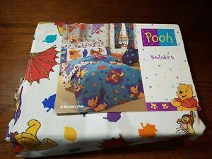 Disney Winnie the Pooh Vintage Blustery Day Full Bedskirt Bedding