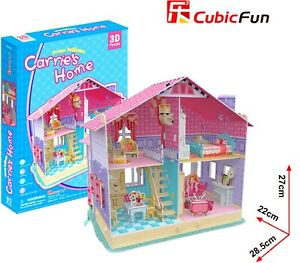 Girls Dollhouse Carries Home 3D Model DIY Puzzle Hobby Building Kit Build Toy