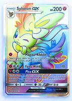 Sylveon GX 158//145 Pokemon Card English Standard Size Matt Gold Card