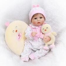 Reborn baby 16'' girl doll soft silicone vinyl Lifelike handmade halloween gifts