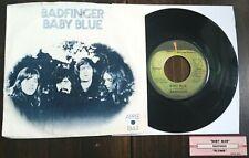 Badfinger - Baby Blue/Flying 45 w/sleeve, jukebox strip Apple 1844 VG/VG+
