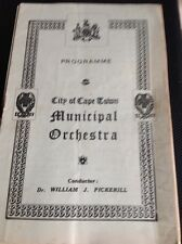 G7-1 Programme Sth Africa City Of Cape Town Municipal Orchestra June 4th 1944
