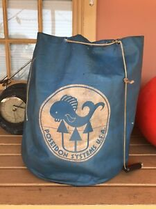 Vintage 1970's Poseidon Systems Unisuit Scuba Diving Suit Regulator Gear Bag
