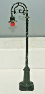 "LIONEL PREWAR STANDARD GAUGE 61 GREEN GOOSENECK LAMP POST 13"" LONG"