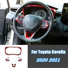 For 2020 2021 Toyota Corolla RED Steering Wheel+Dashboard Decorative Frame trim